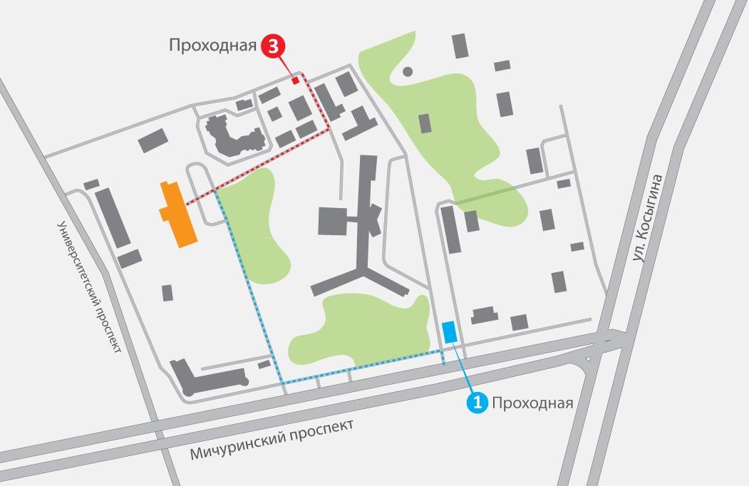 Схема расположения комплекса на территории ОБП